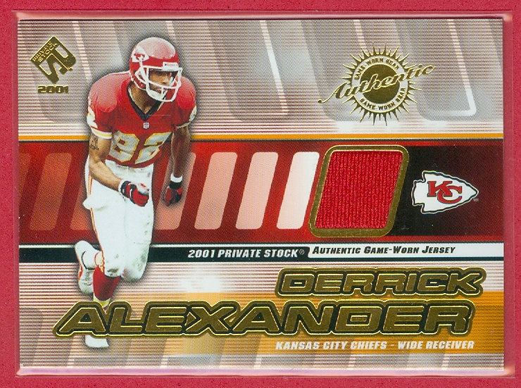 Derrick Alexander GAME-USED JERSEY CHASE CARD #76