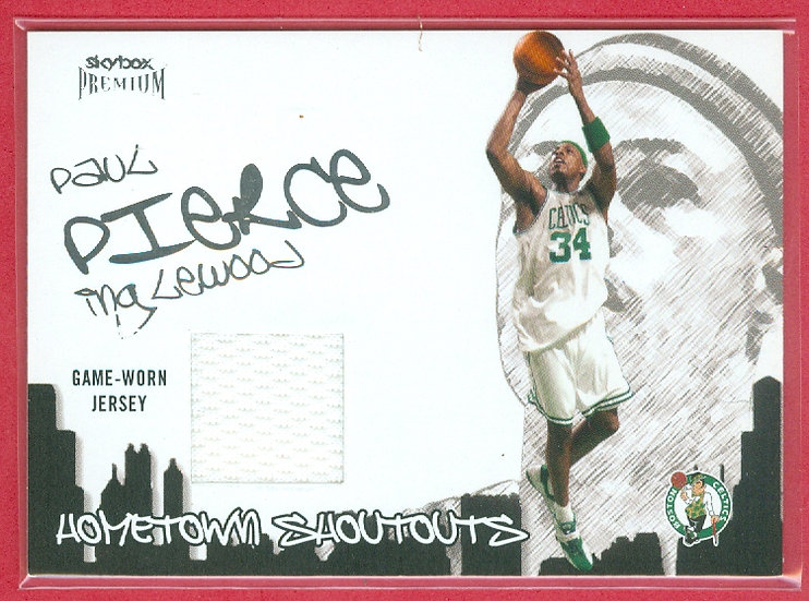 """""""Paul Pierce"""" SP GAME-USED JERSEY RELIC CARD"""