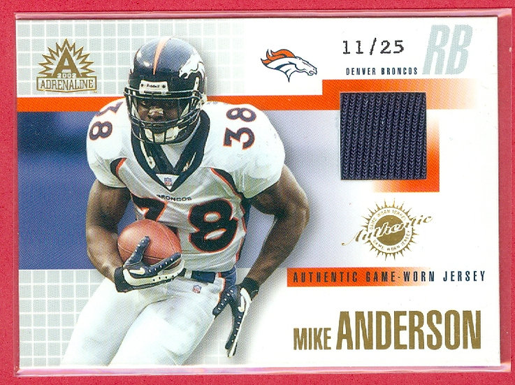 Mike Anderson SSP GAME JERSEY CHASE CARD #d 11/25