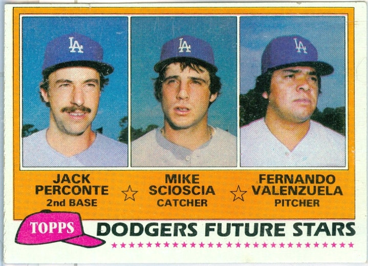 "1981 TOPPS ""DODGERS FUTURE STARS"" RC Card #302"
