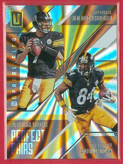 Ben Roethlisberger/Antonio Brown CHASE CARD #PP-11
