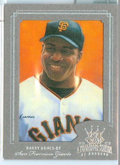 """Barry Bonds"" SP SILVER FOIL VARIANT Card #d /400"