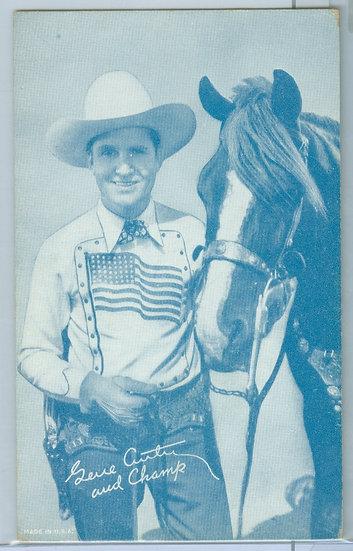 "1931-64 ""Gene Autry"" PENNY ARCADE EXHIBIT CARD"