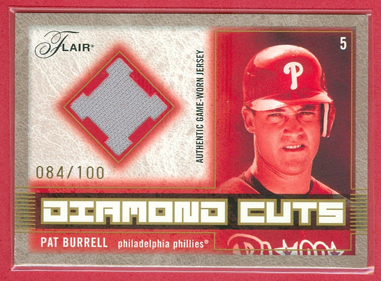 """Pat Burrell"" SP GAME JERSEY RELIC CARD #d 084/100"