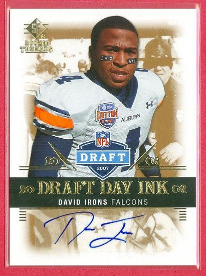 """David Irons"" DRAFT DAY SP RC AUTO CARD #DDI-DI"