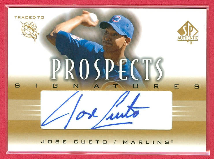 """Jose Cueto"" SP ROOKIE AUTOGRAPH CHASE CARD"
