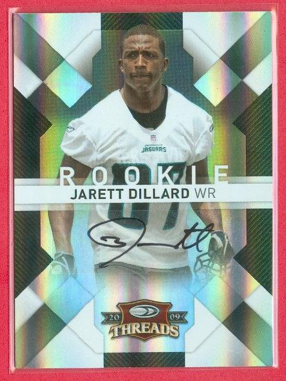 """""""Jarett Dillard"""" SP AUTOGRAPH RC CARD #'ed 320/499"""