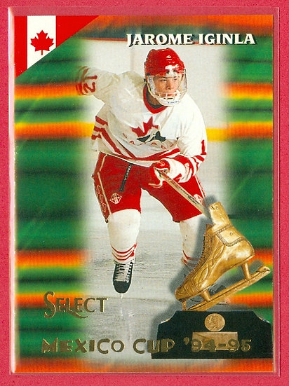 """Jarome Iginla"" MEXICO CUP '94-95 RC CARD #165"