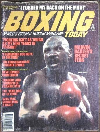 "1981 ""BOXING TODAY"" MAGAZINE VOL #3 No. 4 - HAGLER"