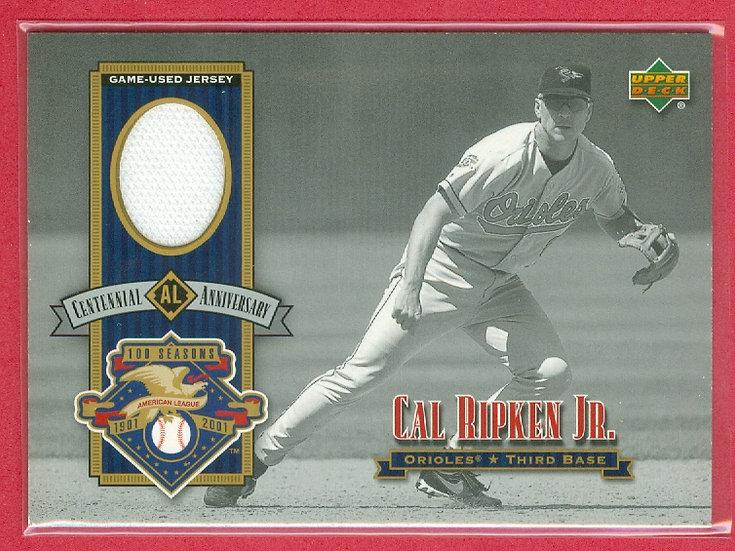 """""""Cal Ripken Jr."""" SP GAME JERSEY RELIC CARD #ALJ-CR"""