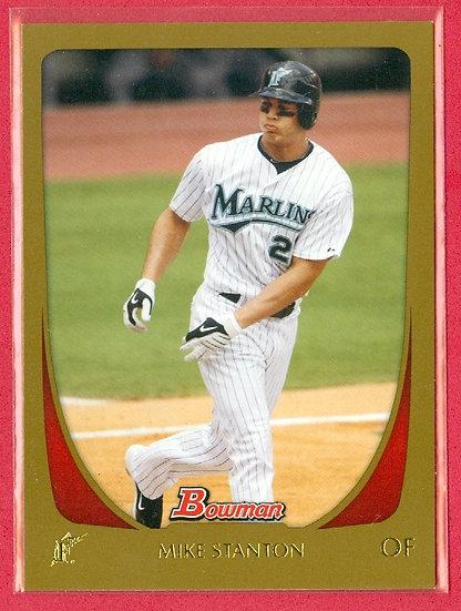 """Mike"" Giancarlo Stanton 2011 BOWMAN BASEBALL SP ""GOLD"" CARD #78"