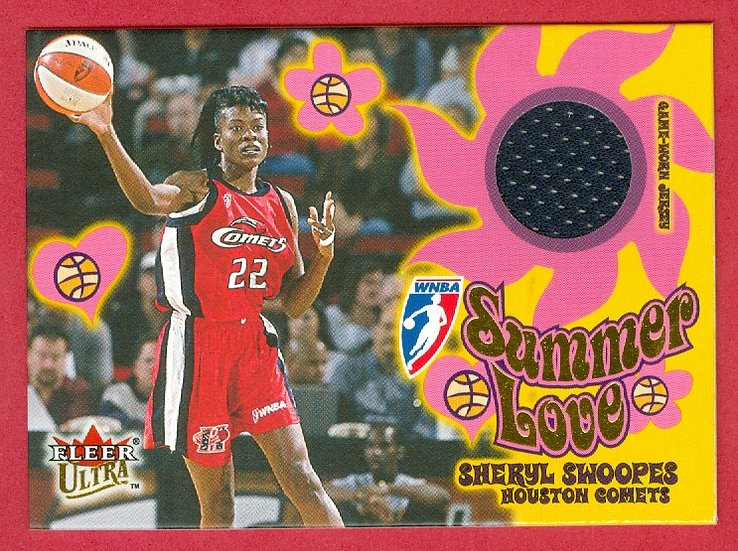 """""""Sheryl Swoopes"""" HOF/SUMMER LOVE JERSEY CHASE CARD"""
