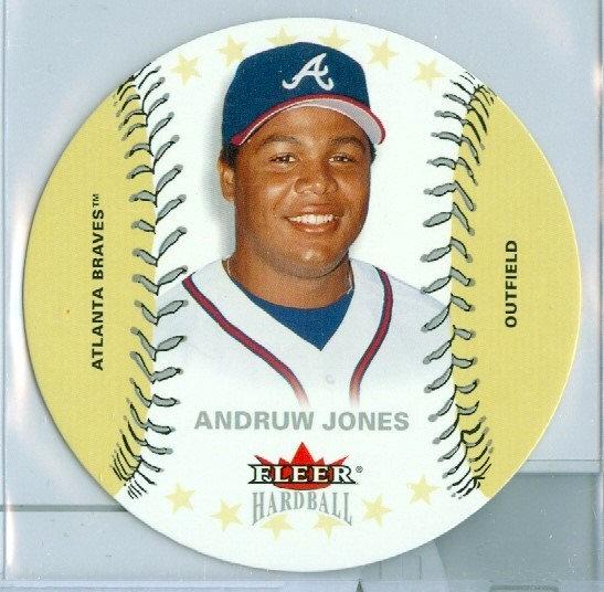 """""""Andruw Jones"""" SP PLATINUM DIE-CUT Card #d 45/50"""