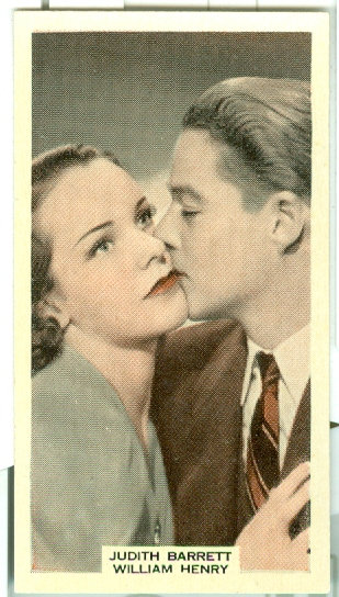 """Judith Barrett & William Henry"" TOBACCO CARD #51"