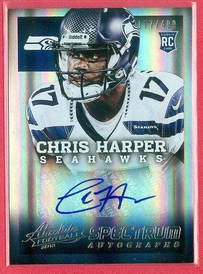 Chris Harper SP RC AUTO FOIL CHASE CARD #d 177/499