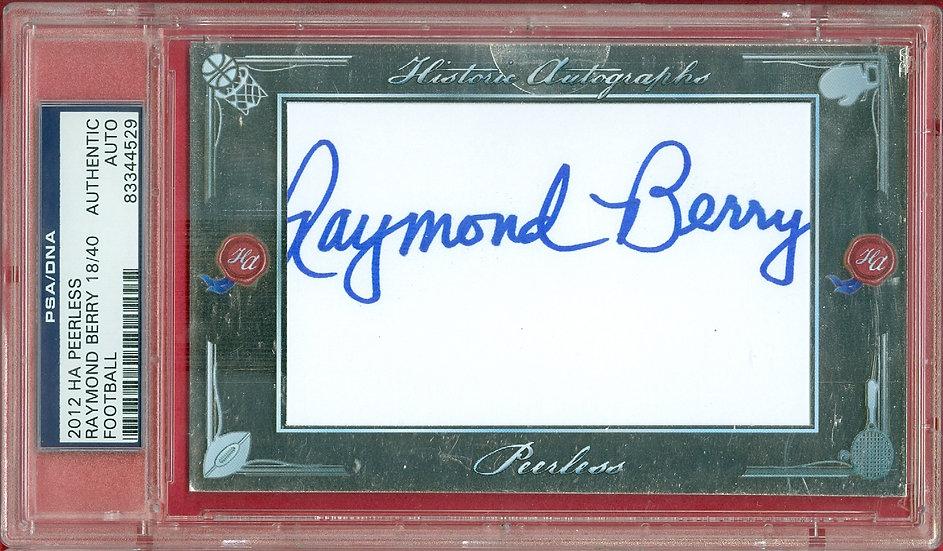 """""""Raymond Berry"""" HOF SP CUT SIGNATURE CARD #d 18/40"""