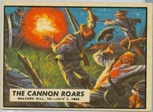 "1962 ""CIVIL WAR NEWS"" CARD #28 ""THE CANNON ROARS"""