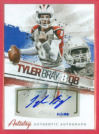"""Tyler Bray"" SP COLLEGE RC AUTO CARD #d 11/100"