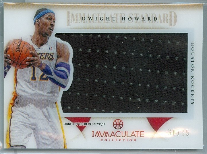 """Dwight Howard"" SP JUMBO GAME JERSEY CARD #d 30/75"