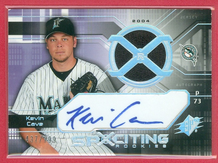 """""""Kevin Cave"""" SP RC AUTO/JERSEY CARD #'ed 437/799"""