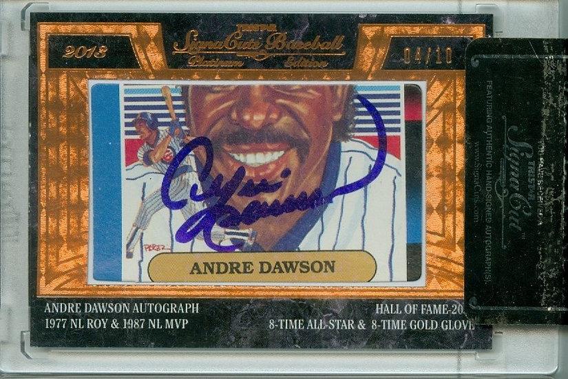 Andre Dawson SSP AUTHENTIC CUT SIGNATURE #ed 04/10