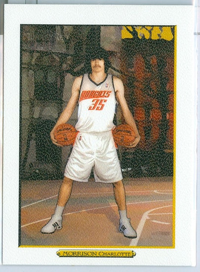 Adam Morrison SP WHT AD BACK VARIANT RC CARD #200