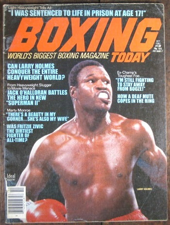 "1981 ""BOXING TODAY"" MAGAZINE VOL #3 No. 5 - HOLMES"