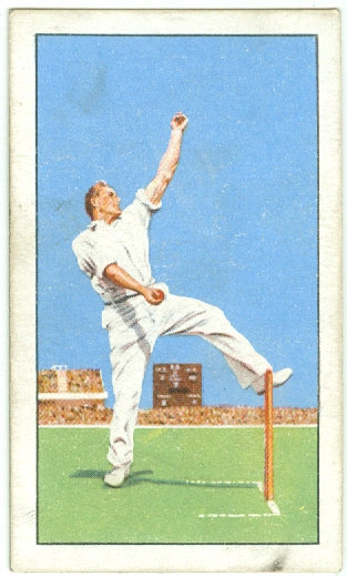 "1935 CHAMPIONS ""Harold Larwood"" TOBACCO CARD #35"