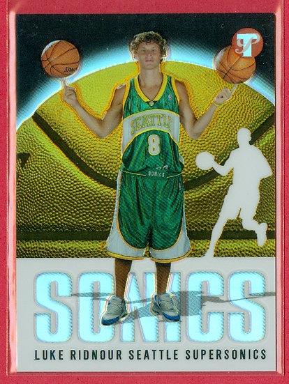 """Luke Ridnour"" SP REFRACTOR RC CARD #d 0503/1999"