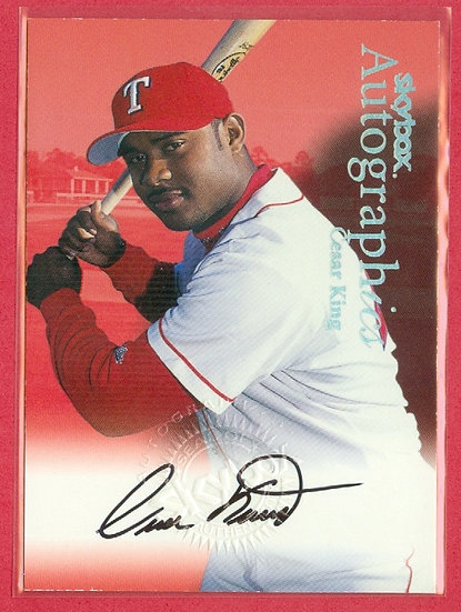 """""""Cesar King"""" SP AUTOGRAPHics AUTO CHASE CARD"""