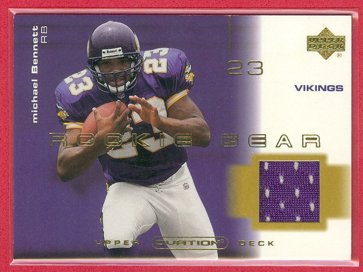"""""""Michael Bennett"""" GAME JERSEY RC CHASE CARD #R-MB"""