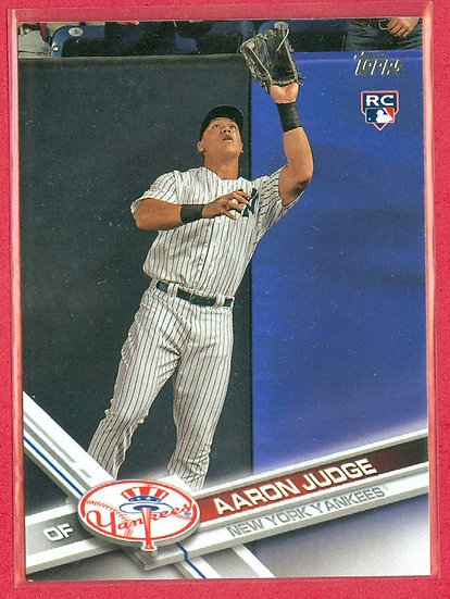"""""""Aaron Judge"""" 2017 TOPPS ROOKIE/RC CARD #287"""