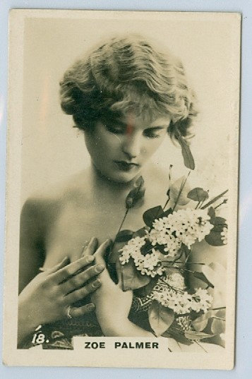 "RARE 1926 ""BEAUTIES"" Zoe Palmer TOBACCO CARD #18"