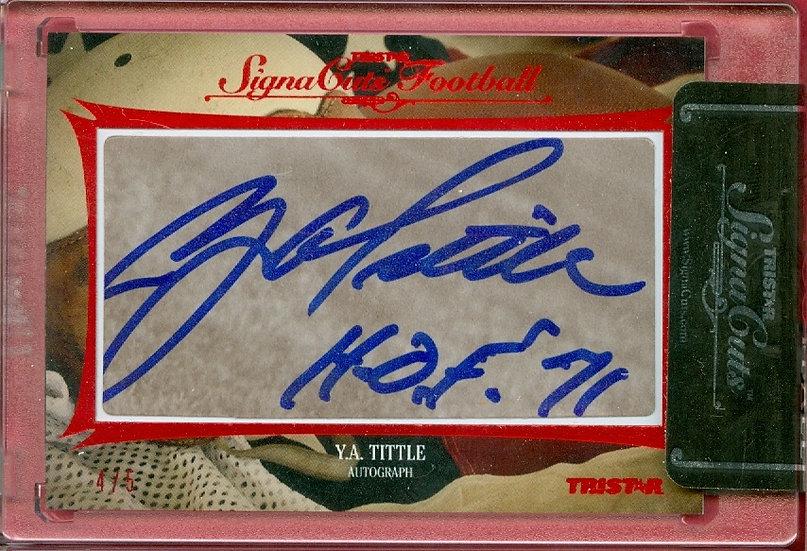 """Y.A. Tittle"" HOF SSP CUT SIGNATURE CARD #'ed 4/5"