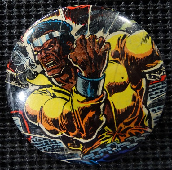 """LUKE CAGE POWER MAN"" POP CULTURE 3"" PINBACK/PIN-BACK COMIC BUTTON"
