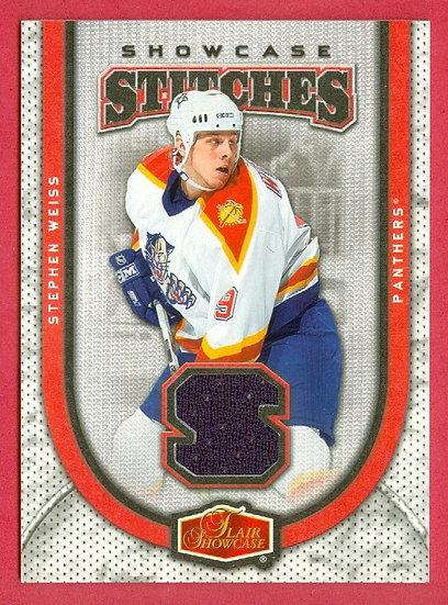"""Stephen Weiss"" SHOWCASE GAME JERSEY CARD #PP-JL"