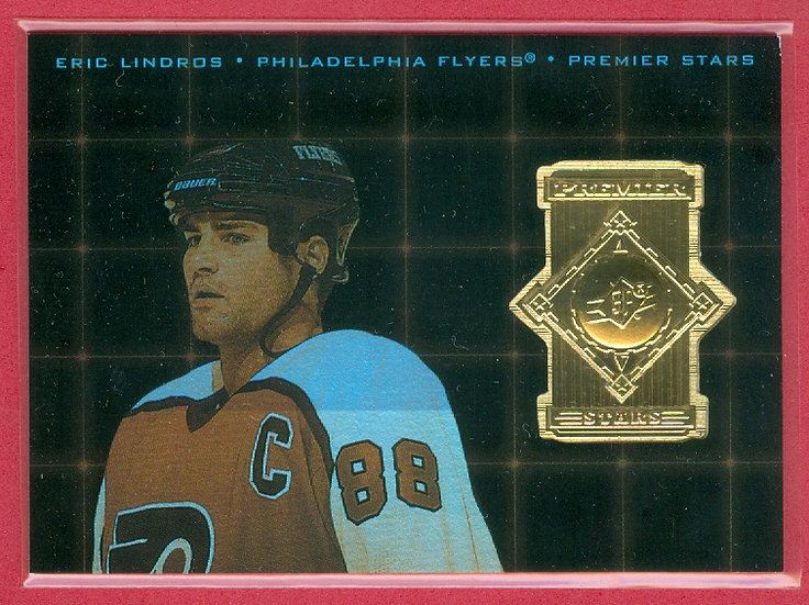 """""""Eric Lindros"""" SPx HOLO-FOIL CHASE CARD #PS-8"""