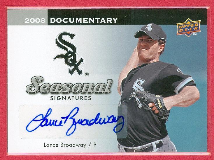 """Lance Broadway"" UPPER DECK SP AUTOGRAPH CARD"