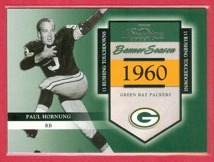 Paul Hornung 2002 PRESTIGE CHASE CARD #d 0553/1960