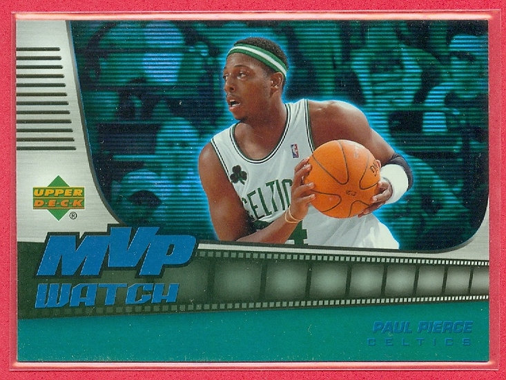 """Paul Pierce"" SP ""MVP WATCH"" FOIL CARD #MVP-PP"