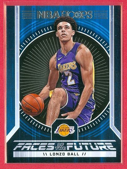 """Lonzo Ball"" SP ""FACES OF FUTURE"" RC CHASE CARD #2"