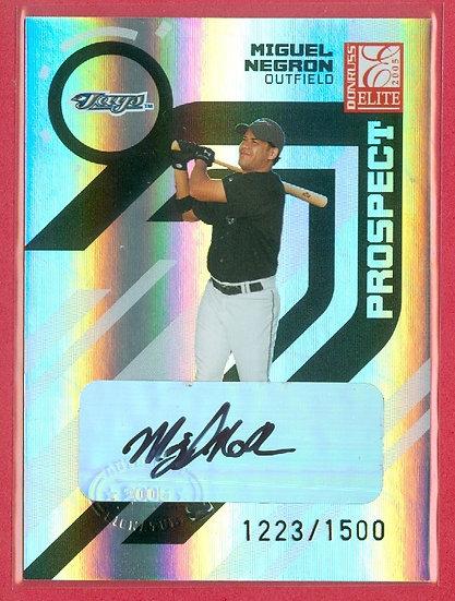 """""""Miguel Negron"""" SP RC AUTO FOIL CARD #ed 1223/1500"""