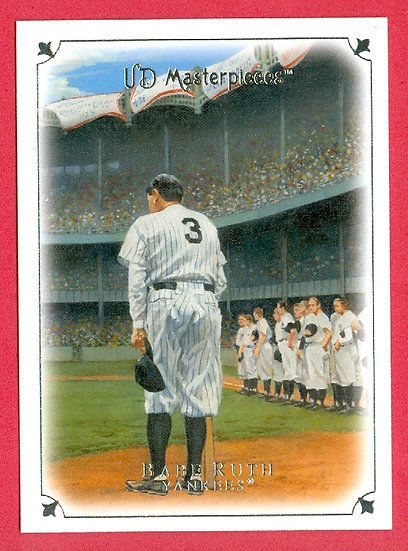 """""""Babe Ruth"""" 2007 UD MASTERPIECES CARD #2"""