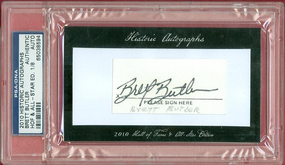 """Brett Butler"" SSP CUT SIGNATURE CARD #'ed 1/8"