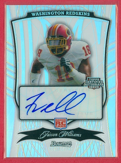 """Jaison Williams"" SP AUTO RC CHROME CARD #d 22/75"