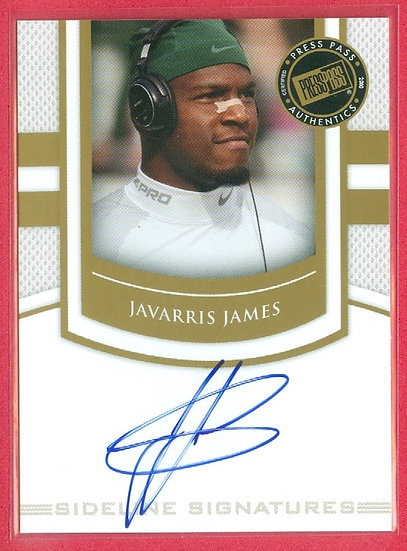 """JaVarris James"" SP ROOKIE AUTOGRAPH CHASE CARD"
