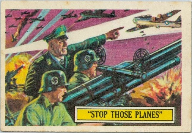 "1965 ""BATTLE CARDS"" #14 - ""STOP THOSE PLANES"""