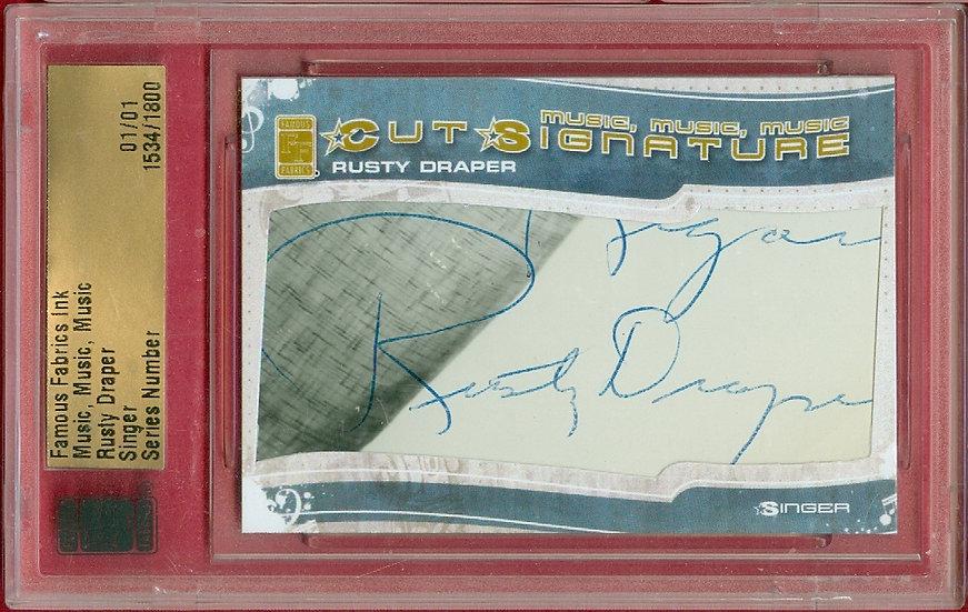 """""""Rusty Draper"""" SSP CUT SIGNATURE CARD #'ed 01/01"""
