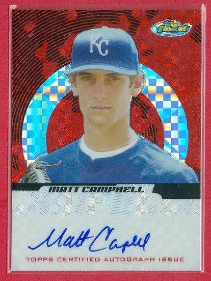 """Matt Campbell"" SP CHROME RC AUTO CARD #d 086/250"