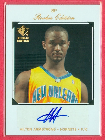 """""""Hilton Armstrong"""" SP AUTOGRAPH CHASE CARD"""